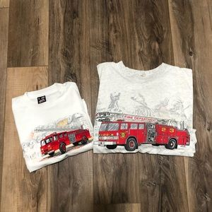 Other - Pair of 2 Fire Department Shirts both XL Adult